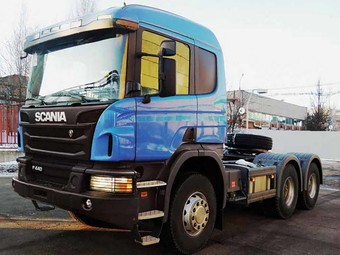 Лесовоз Scania P440 6×4 off-road